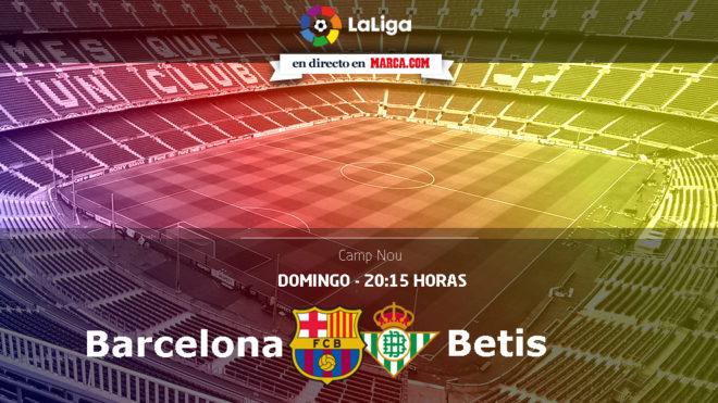 Barcelona vs Betis en directo - Jornada 1 Liga Santander 73caba92ed2