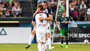 Torrado marcó sus primeros goles en la segunda división de Estados...