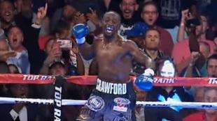 Crawford tras derrotar a Indongo