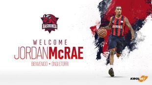 Jordan McRae, nuevo jugador del Baskonia.