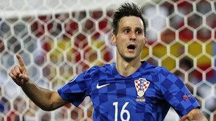 Kalinic, en un partido con Croacia