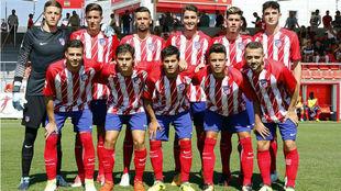 Alineación de Atlético B ante la Gimnástica