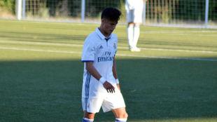Paolo Medina, en un partido con el Real Madrid.