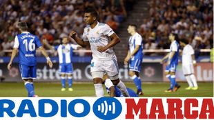 Casemiro celebrando el segundo gol del Real Madrid