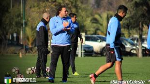 Gabriel Milito (36), en un entrenamiento del O'Higgins