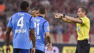 Momento del partido entre el Bayern Munich contra el Bayern...