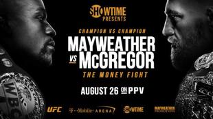 Mayweather Vs McGregor - Madrugada del Sábado 26 al 27 de Agosto