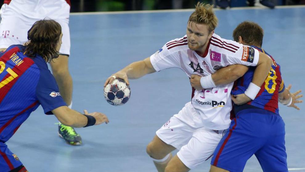 Palmarsson, en la pasada Champions contra el Barcelona