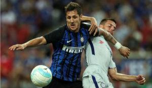 Jovetic, en un amistoso del Inter contra el Chelsea.