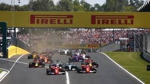 La salida del GP de Hungría de F1