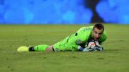 Pau López (22), en el partido contra el Sevilla disputado en el...