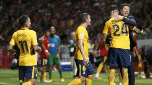 El  Atlético remontó dos goles  en Montilivi