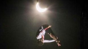 David Colturi, en pleno salto.