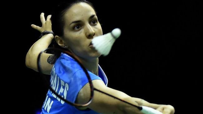 Beatriz Corrales durante el duelo de dieciseisavos en el Mundial de...