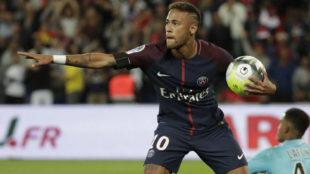 Neymar, durante el partido ante el Toulouse del pasado domingo