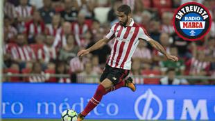 Raúl García, durante un partido del Athletic de Bilbao