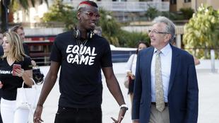 Pogba, en el acto contra el racismo organizado por UEFA
