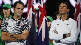 Federer y Nadal, en el pasado Open de Australia