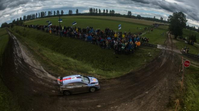 Thierry Neuville, en el Rally de Polonia.