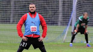Pedro León, en un entrenamiento.