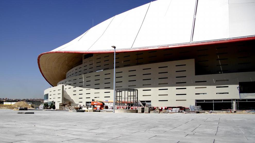 Exterior del estadio Wanda Metropolitano