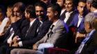 Cristiano sonr�e junto a Buffon en la gala