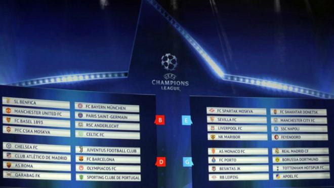 Calendario Champions Legue.Champions League 2017 18 Calendario De La Fase De Grupos De