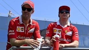 Vettel y Raikkonen, en Hungaroring