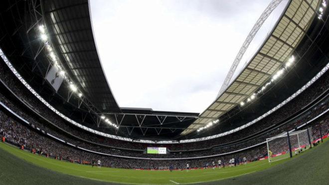Wembley, en un partido del Tottenham.