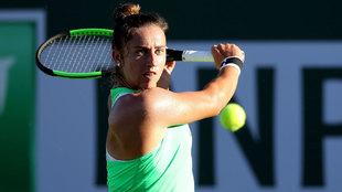 Radwanska, en un partido de tenis