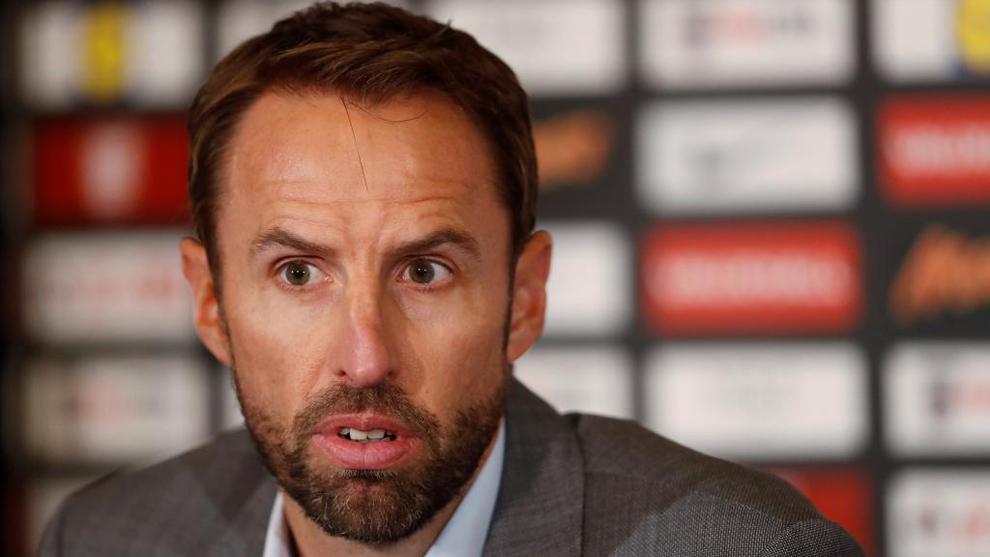 Gareth Southgate (46), en conferencia de prensa