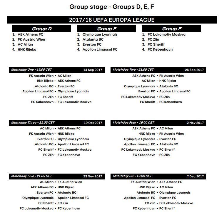 Calendario Milan Europa League.Europa League Descubre Todo El Calendario De La Europa