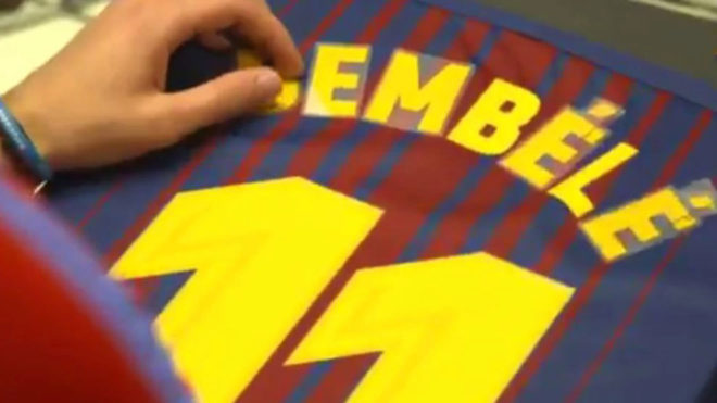 Camiseta FC Barcelona O. Dembélé