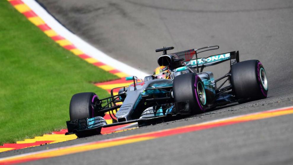 Lewis Hamilton en Francorchamps