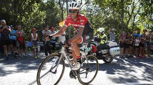 Alberto Contador durante la Vuelta a Espa�a.