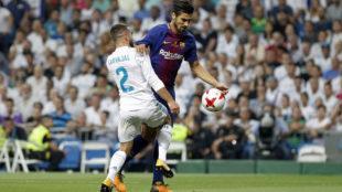 Andr� Gomes durante la pasada Supercopa de Espa�a ante el Real...