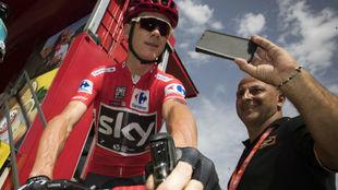 Chris Froome durante la Vuelta a Espa�a.