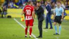 Simeone y Carrasco, en el partido ante Las Palmas
