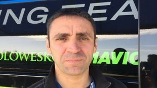 Juanma G�rate con el equipo Cannondale