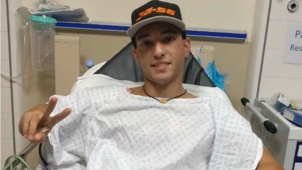Juanfran Guevara, en el hospital