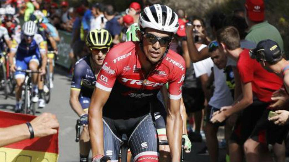 Alberto Contador durante la Vuelta a España.