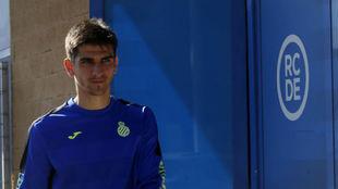 Gerard Moreno, en la Ciudad Deportiva