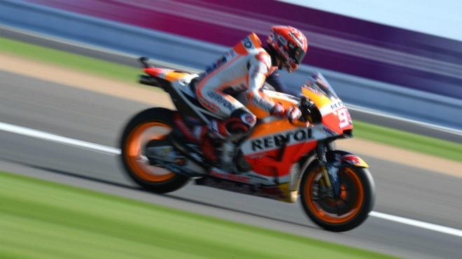 Marc M�rquez, en Silverstone.