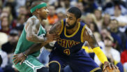 Irving y Thomas en un partido de NBA