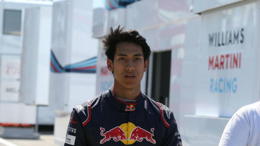 Sean Gelael, en los test de F1 en Hungría