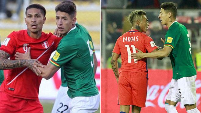 Cabrera ante Guerrero (Perú) y Vargas (Chile).