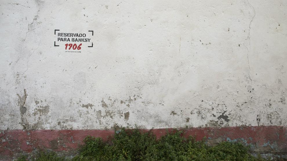 El espacio reservado para Banksy en Canido.