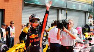 Max Verstappen, en Spa.