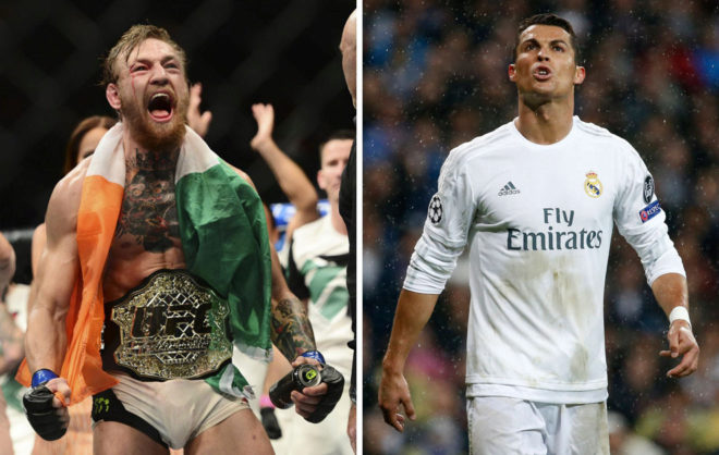 Conor McGregor y Cristiano Ronaldo