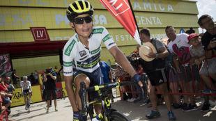 Esteban Chaves durante la Vuelta a Espa�a.